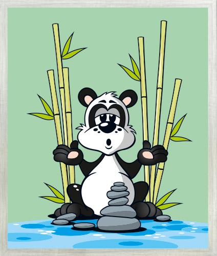Panda Guru mit Rahmen