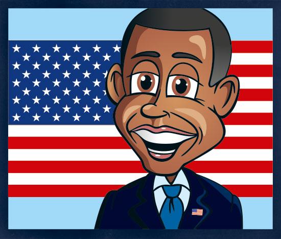 Cartoon President Obama