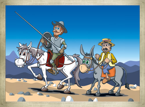 Cartoon Don Quichotte