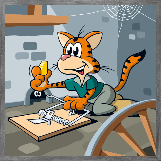 Katzenfalle mit Rahmen
