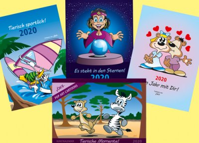 Cartoon Kalender 2020