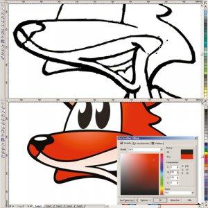 Cartoon Vektorisierung und Colorierung