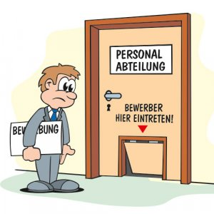 Personal Cartoon Bewerber