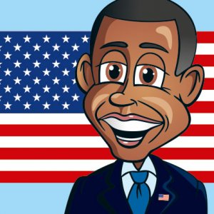 Cartoon President Obama