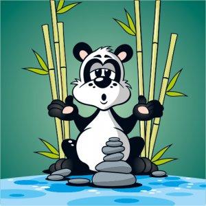 Tiercartoon Panda Guru