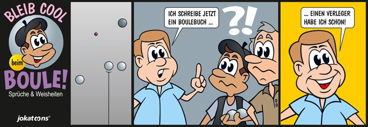 Bleib Cool beim Boule Cartoon