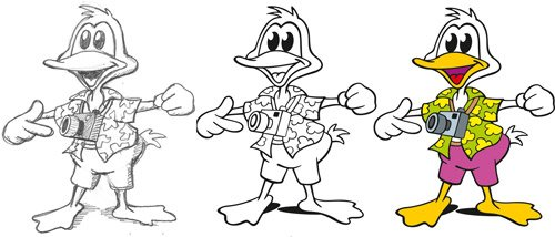 Cartoon Design Ente